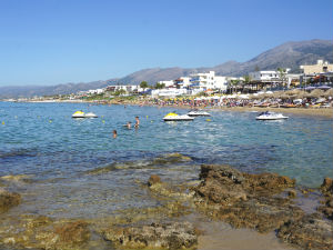 Stalis vakantie Kreta het strand