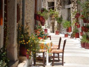 Mooi straatjes in Mesta op Chios