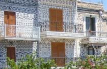 Traditionele decoratie in Pyrgi op Chios