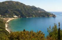 Agios Gordios uitzicht op de baai
