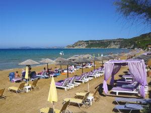 Arillas beach op Corfu