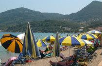 Messonghi beach op Corfu