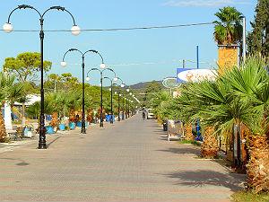 Boulevard van Eretria op Evia