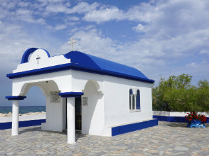 Agios Apostoli kerkje in Faliraki op Rhodos