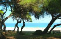 September aan het strand in Griekenland