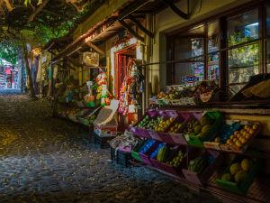 Molyvos Lesbos winkelstraatje