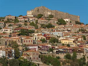 Uitzicht op Molyvos Lesbos