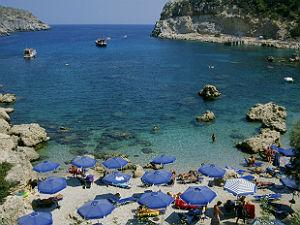 Faliraki rhodos vakantie tips en strand - Planter uitzicht op de baai ...