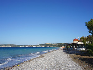 Ixia en Ialysos beach op Rhodos