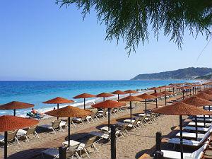 Ixia beach op Rhodos
