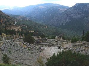 Delphi overzicht archeologische site
