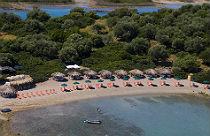 Magnolia beach op Lichadonisia Evia