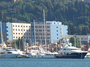 Jachthaven in Griekenland op Corfu