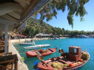Het haventje van Vassiliki op Lefkas