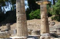 Olympia zuilen Peloponnesos Griekenland