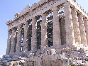 De Parthenon op de Akropolis in Athene