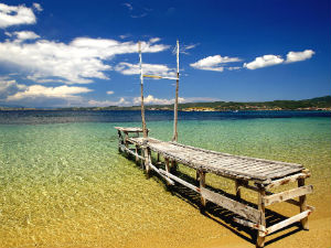 Mousiou beach op Ammouliani Chalkidiki