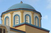 Kerk Asfendiou dorpen bij Zia op Kos