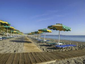 Afandou beach op Rhodos tijdens vakantie