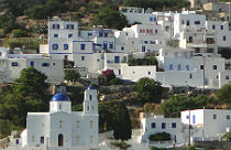 Aegiali Amorgos dorp Potamos