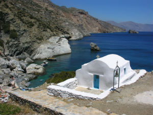 Agia Anna beach op Amorgos
