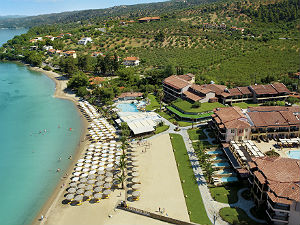 Strand van Anthemus Sea Beach Hotel & Spa in Nikiti