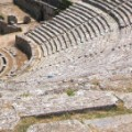 Dodoni amfi theater in Epirus