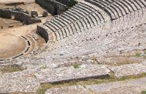 Dodoni amfi theater in Epirus