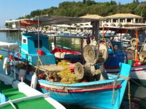 Vissersboot in Sivota