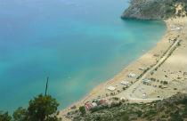 Tsambika beach op eiland Rhodos