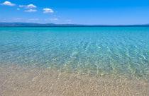 het strand voor Antigoni Beach Resort op Chalkidiki