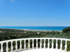 Droomhuis Messinia Peloponnesos uitzicht