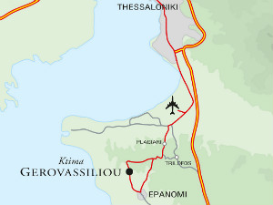 Gerovassiliou winery route map