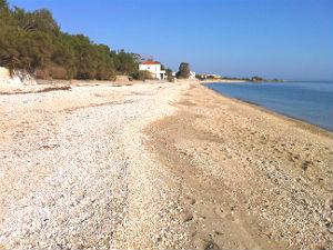 Agios Isidoros beach bij Plomari op Lesbos