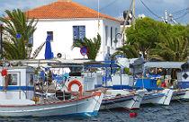 Skala Kalloni op Lesbos