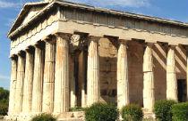Oude Agora Athene Tempel van Hephaistos