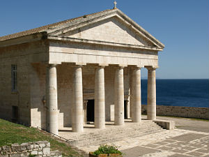 Kerk op het Oude Fort in Kerkyra Corfu