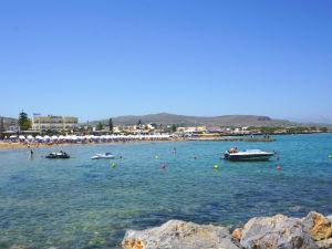 Gouves vakantie het strand op Kreta