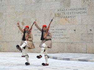 Syntagma monument onbekende soldaat in Athene