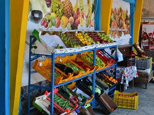 Kala Nera op Pilion de groenteboer