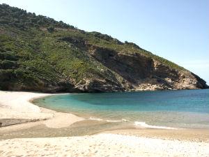 Agios Dimitrios beach tip voor het zuiden van Evia