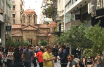Ermou Street winkelstraat Athene