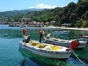 Agios Ioannis haven en vissersbootjes Pilion