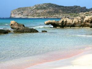 Elafonis beach bij mooiste stranden van Kreta
