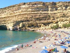 Matala beach op Kreta bij de mooiste stranden