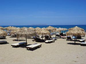Anissaras vakantie het lange zandstrand