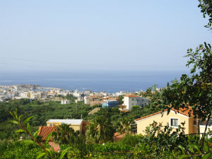 Koutouloufari vakantie op Kreta uitzicht op zee