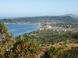 Alykes baai uitzicht op Zakynthos