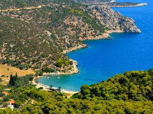 Vagionia beach op Poros