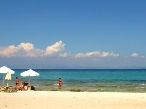 Afytos beach op Kassandra